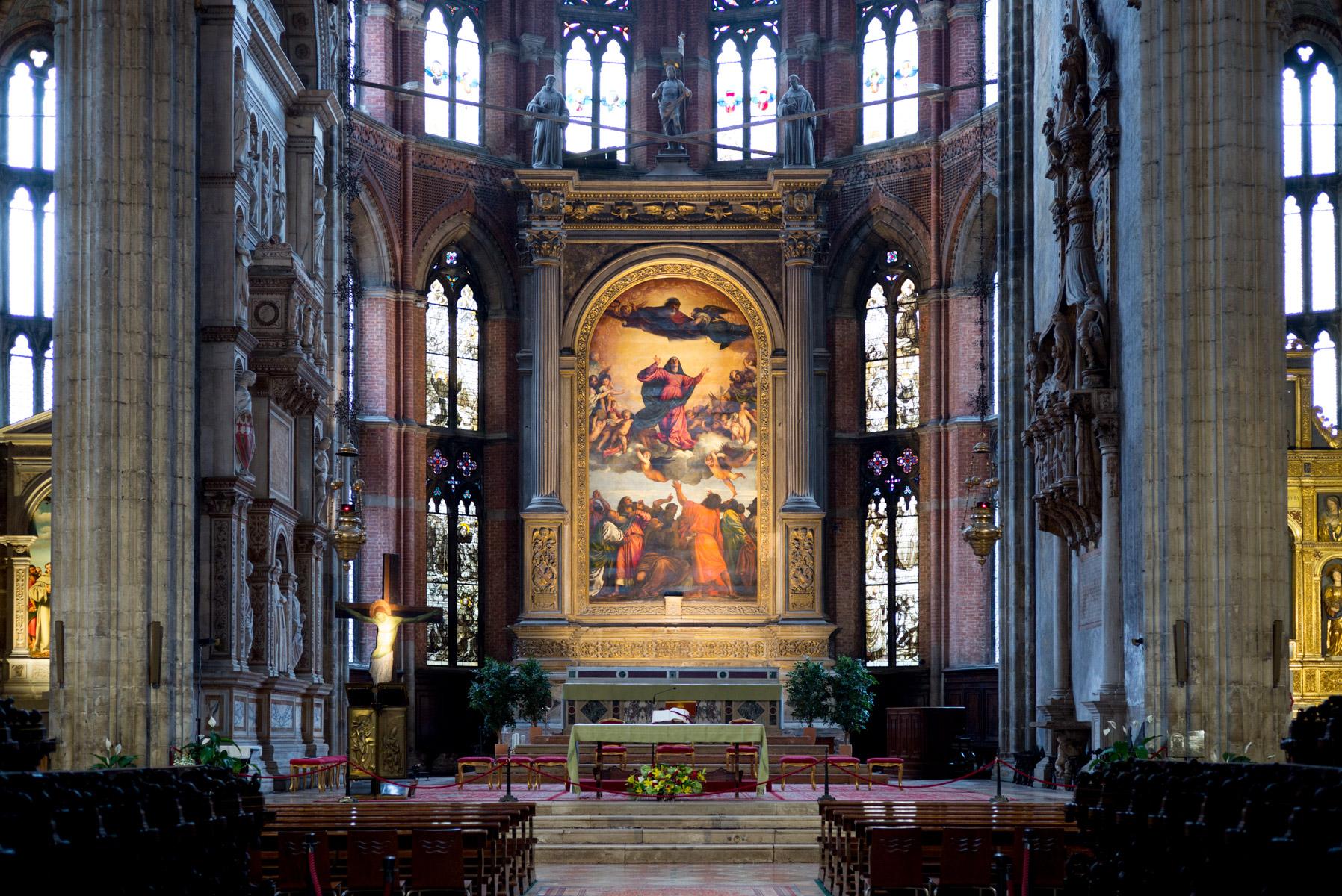 Tizian, Aufnahme Mariens in den Himmel