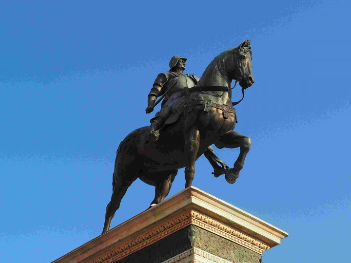 detail, equestrian monument to Bartolomeo Colleoni