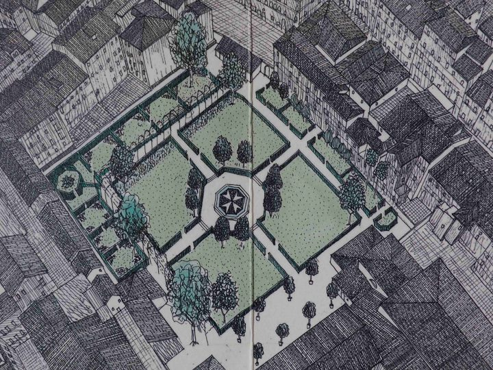 genehmigte Projekt für den symbolischen Garten