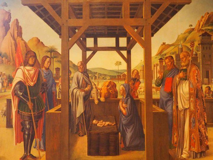 Lazzaro Bastiani, Natività tra Santi, Gallerie dell'Accademia