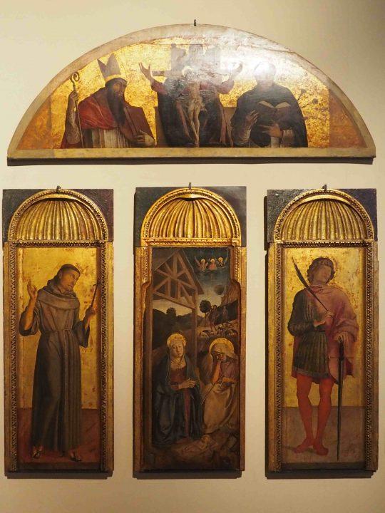 Jacopo, Gentile e Giovanni Bellini, Natività tra San Francesco e San Vittore e Trinità tra Santi