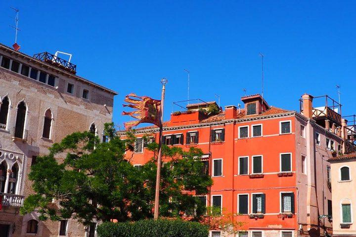 dettaglio del Campo della Bragora e del Palazzo gotico Gritti Badoer