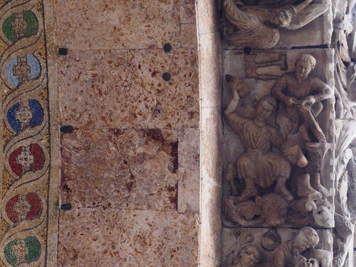 arcone del portale principale della Basilica di San Marco