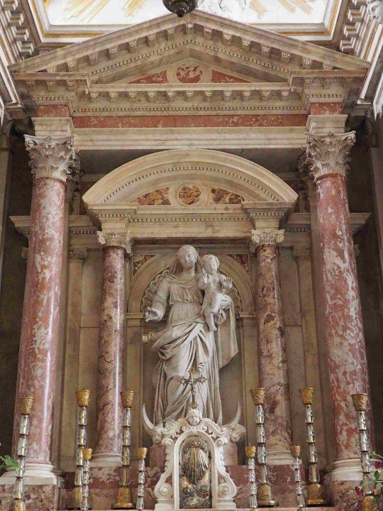 Altar der Maria Vom Berge Karmel mit Skapulier in der Sala Capitolare