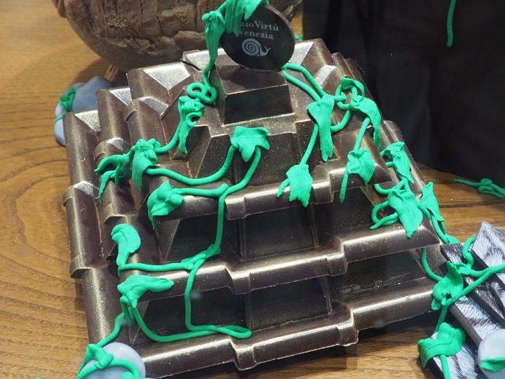 chocolate Maya temple