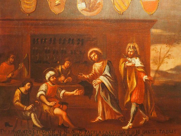 Insegna dell'Arte dei Calegheri, pittore veneto del Settecento