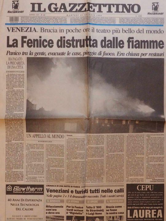 Il Gazzettino our local newspaper of 30th January