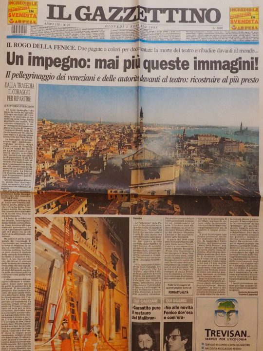 Il Gazzettino our local newspaper of 1st February