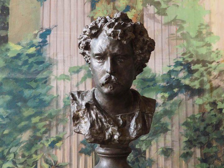 ritratto di Mariano Y Marsal, bronzo, fonderia Munaretti