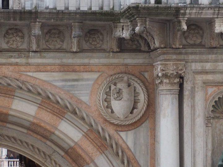 Stemma Foscari, Arco Foscari, Palazzo Ducale
