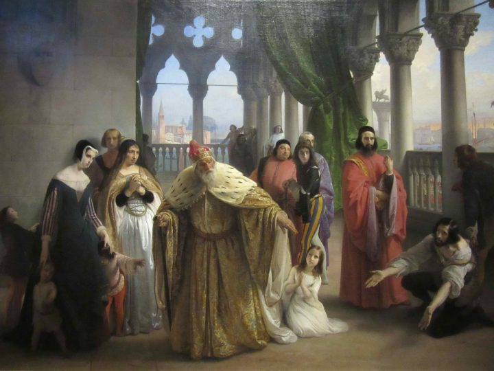 L'ultimo abboccamento di Jacopo Foscari con suo padre il Doge Foscari, Francesco Hayez, 1838-40, Gallerie D'Italia