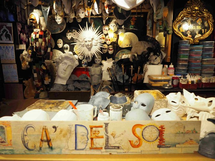 Ca' del Sol, mask atelier in Venice
