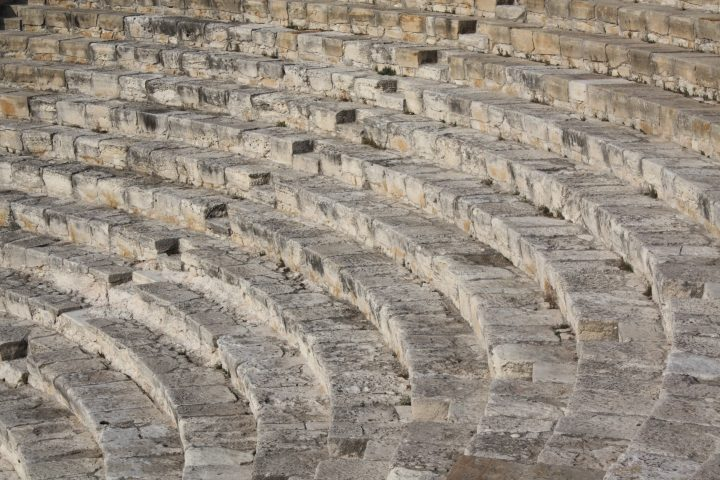 magnificent Greek-Roman theatre in Kourion, 2 BC