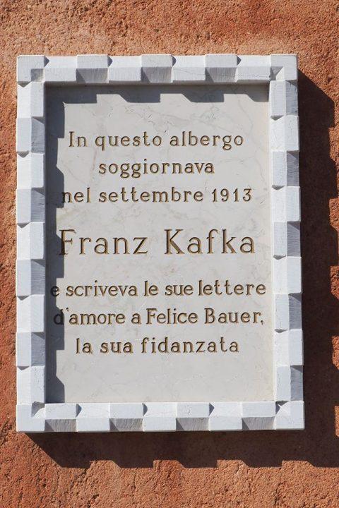 targa che ricorda il soggiorno veneziano di Franz Kafka
