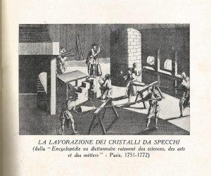 lavorazione dei cristalli da specchi dall'Encyclopédie