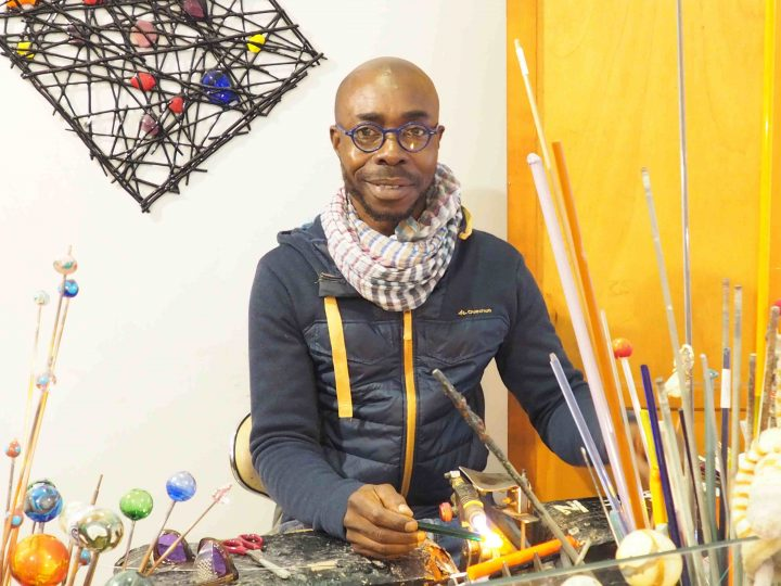 Moulaye in his atelier