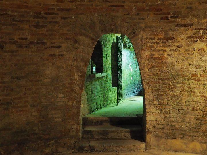 inside of the ice grotto in a Venetian garden