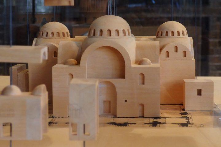 Model mit dem ursprünglichen Grundriß der Markuskirche