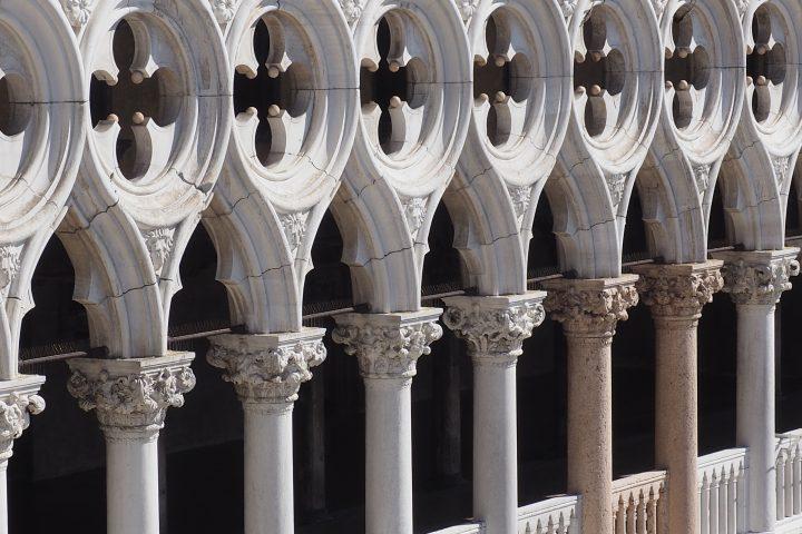 Aussicht vom Balkon der Markuskirche zum Dogenpalast