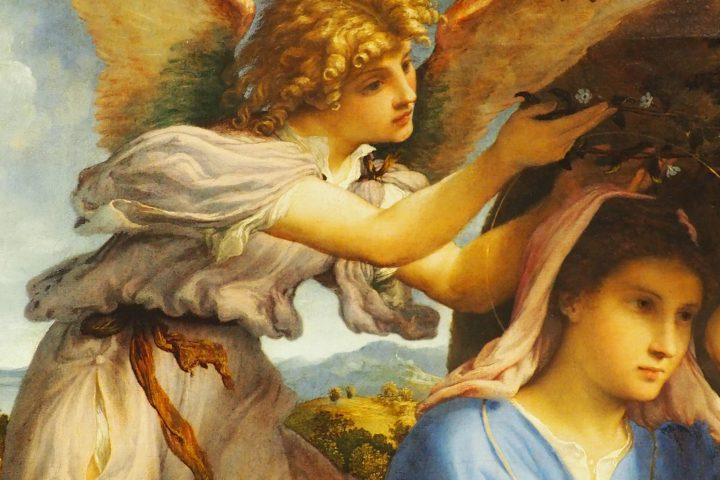 angelo che incorona Maria