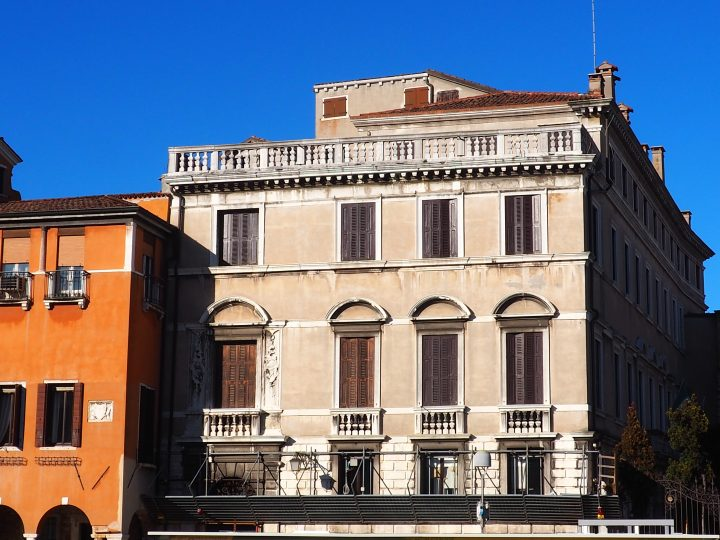 façade of Ca' Memmo on the Grand Canal in Venice