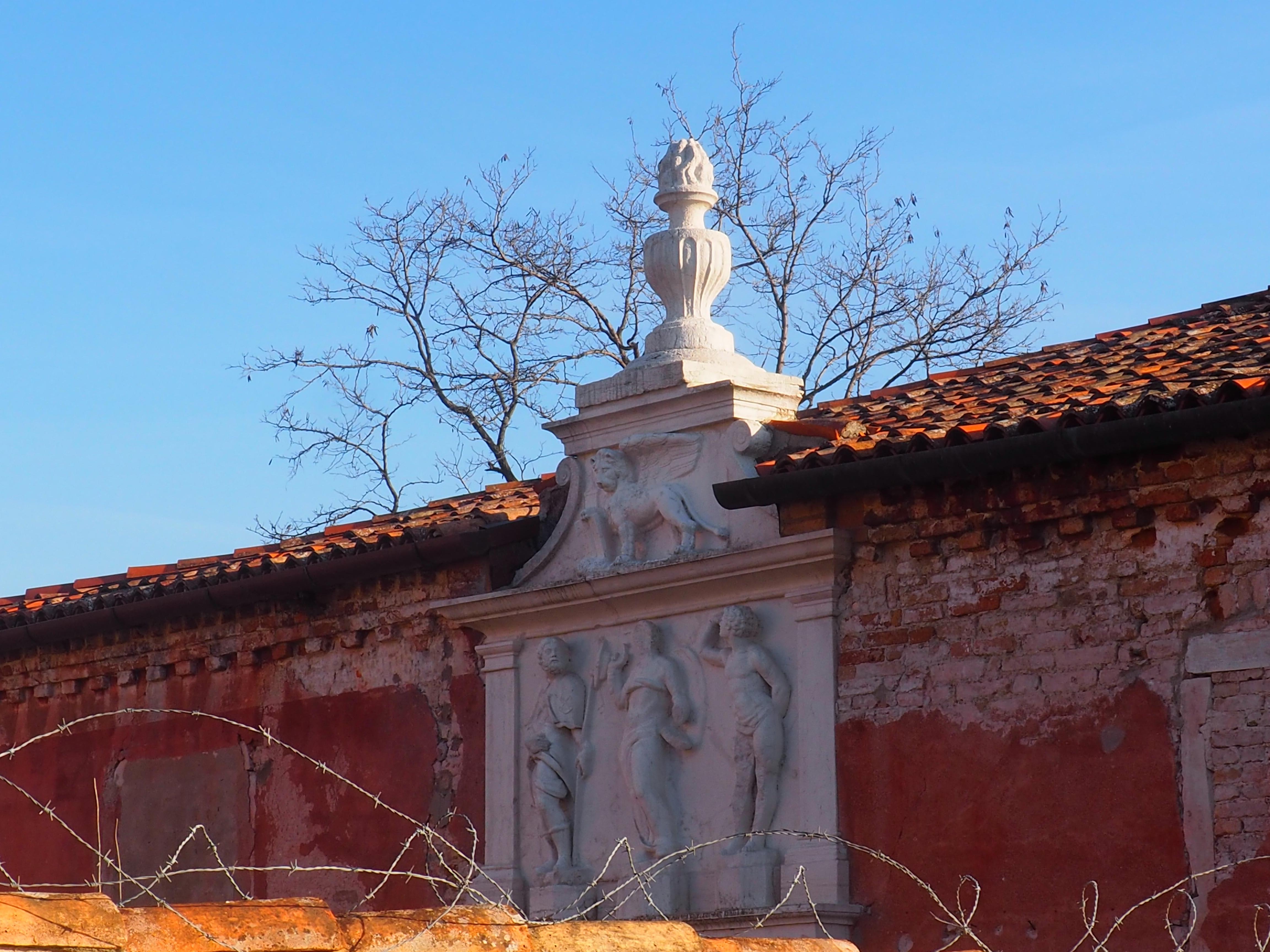entrance to the island Lazzaretto Vecchio