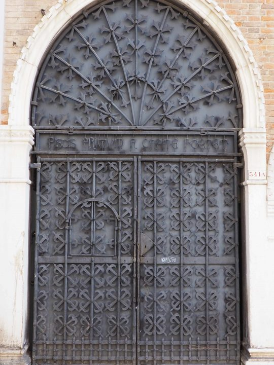 porta in ferro battuto di Umberto Bellotto