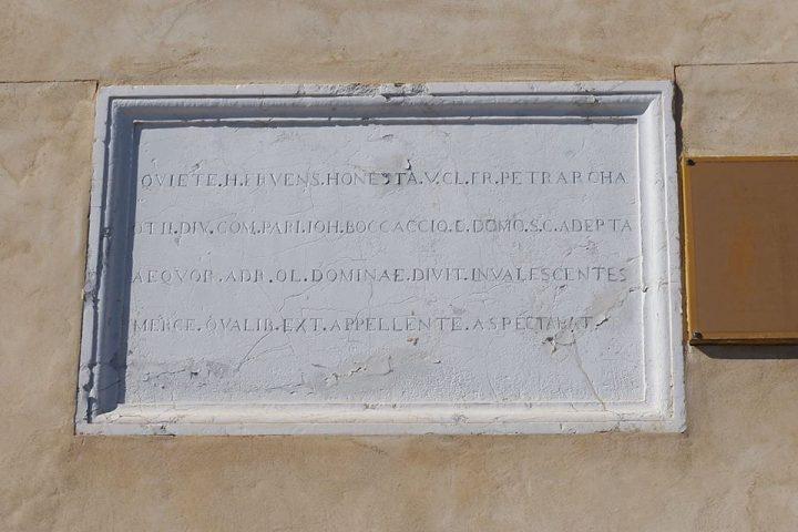 altra targa che ricorda il soggiorno di Francesco Petrarca a Venezia