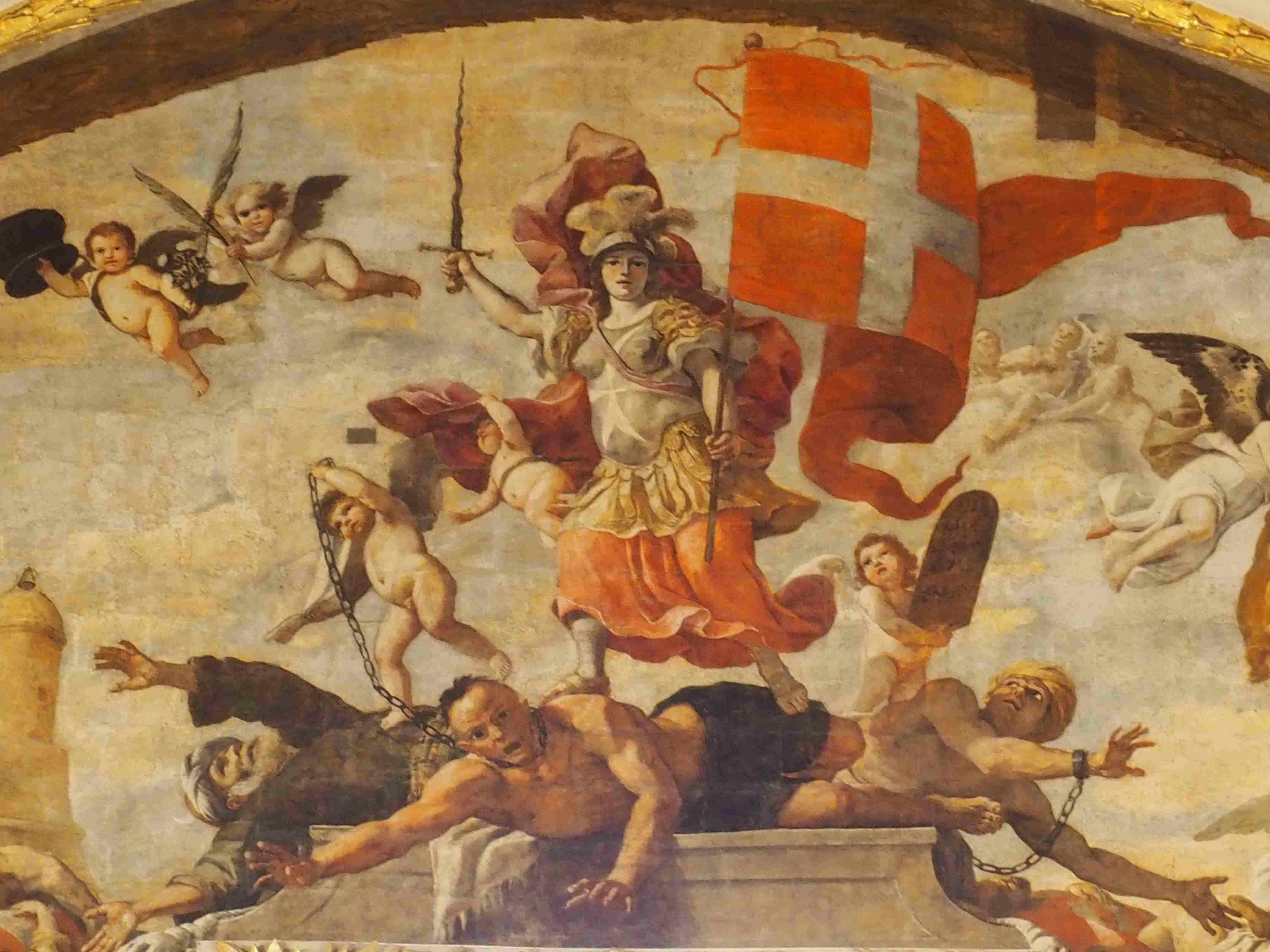 Allegoria della vittoria dell'Ordine contro i Turchi