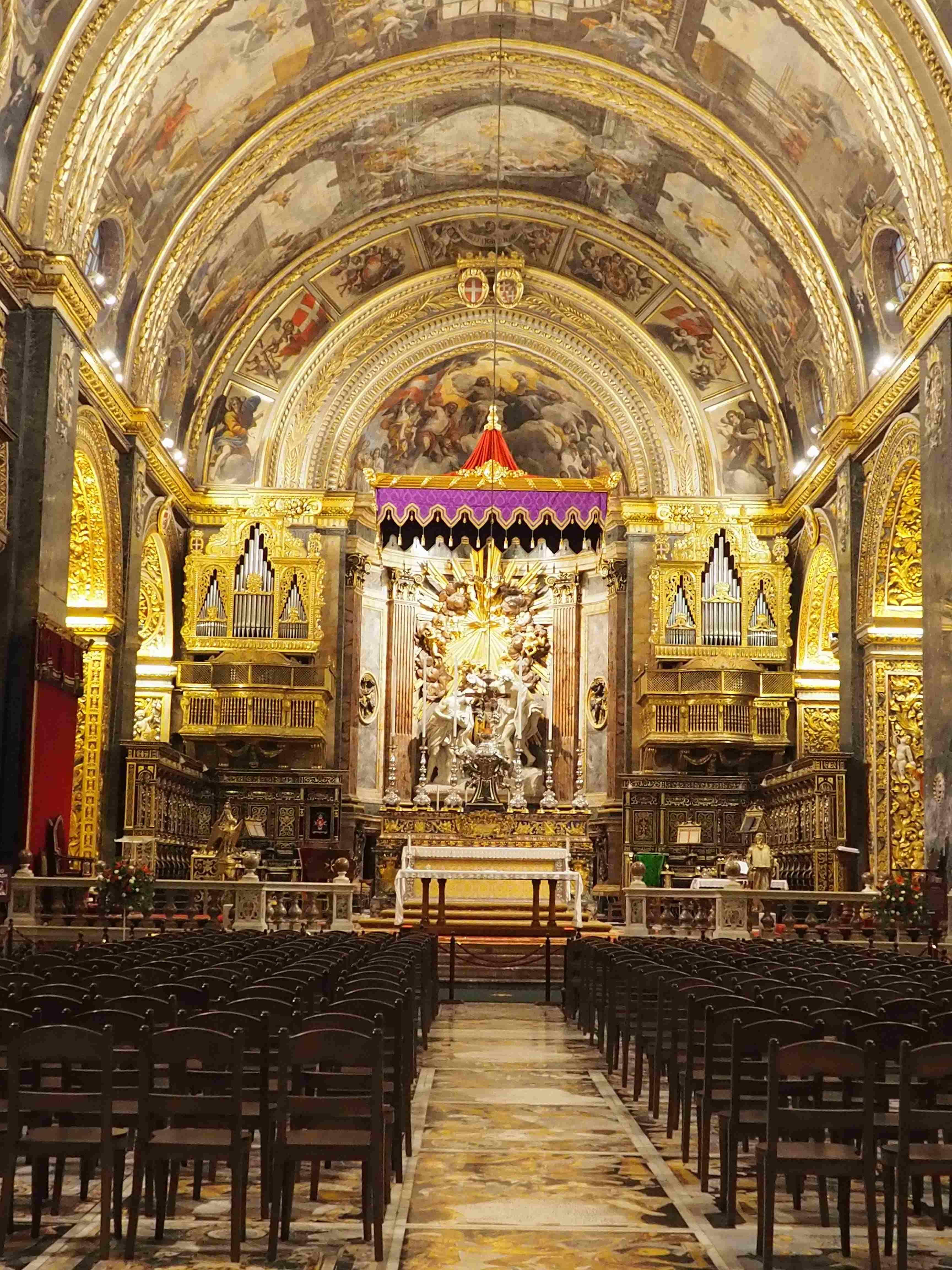 La Concattedrale di San Giovanna a La Valletta a Malta