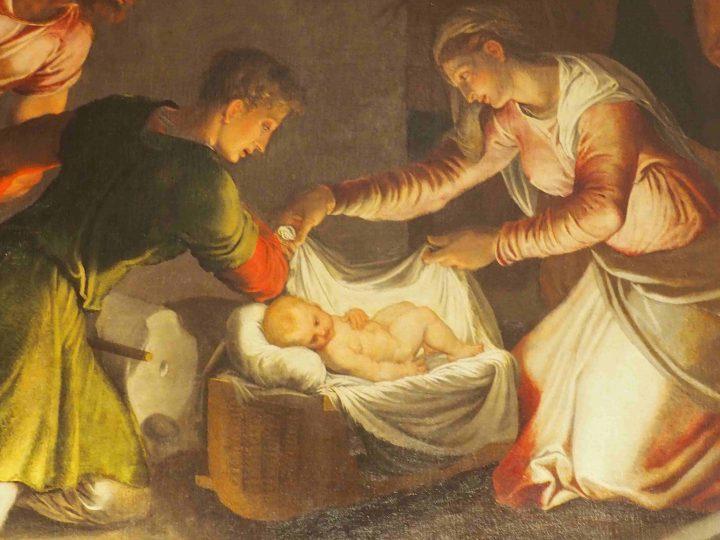dettaglio, Bonifacio de Pitati, Natività, chiesa di San Sebastiano