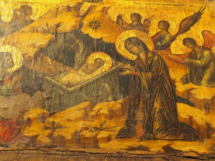 dettaglio, Paolo Veneziano, Polittico con Natività, chiesa di San Pantalon
