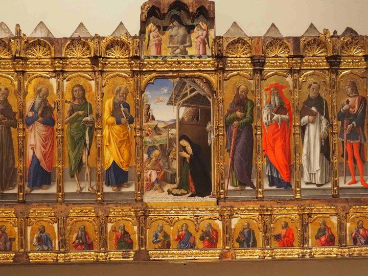 Bartolomeo Vivarini e bottega, Natività con santi e Cristo in pietà con angeli, Gallerie dell'Accademia