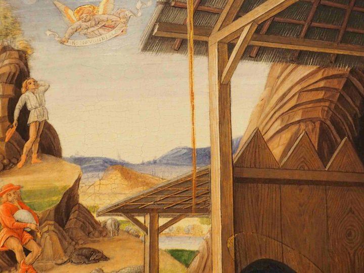 dettaglio, Bartolomeo Vivarini e bottega, Natività con santi e Cristo in pietà con angeli, Gallerie dell'Accademia