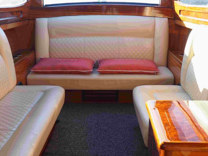 interior of a private water-taxi