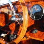steering wheel of a private watertaxi
